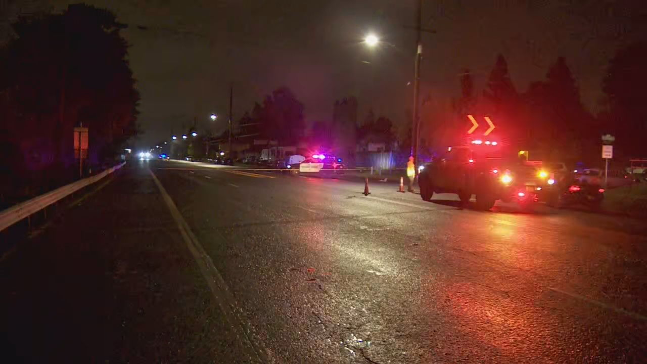 A driver hit and killed a pedestrian in Northeast Portland on Sept. 15, 2019. KATU photo