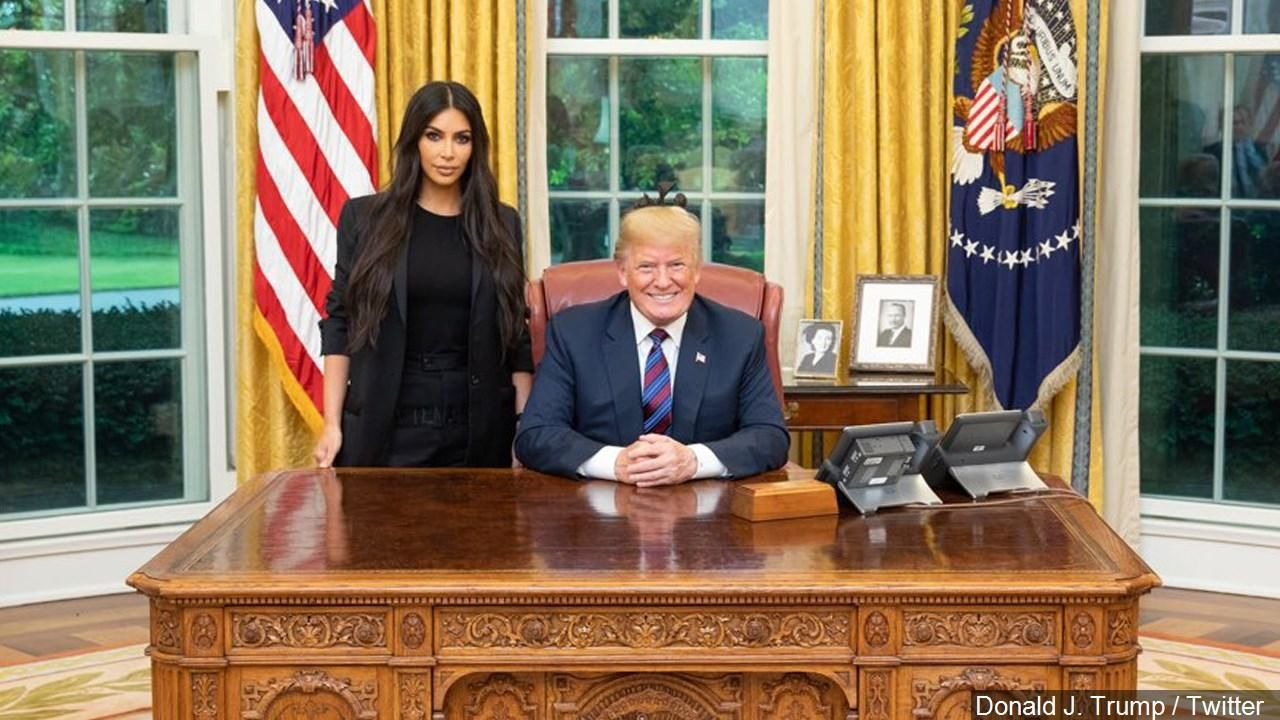 Trump clemency recipient links her case to Kim Kardashian West (Photo: Donald J. Trump / Twitter via MGN Online)