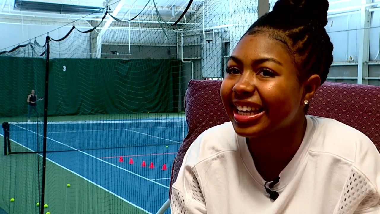 For the second year in a row, Kennedi Green will be a ball kid at the Fed Cup in Asheville. (Photo credit: WLOS Staff)