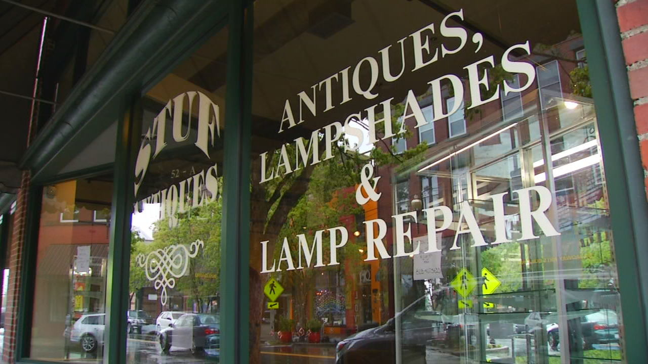 Stuf Antiques is now closed. Photo: WLOS staff