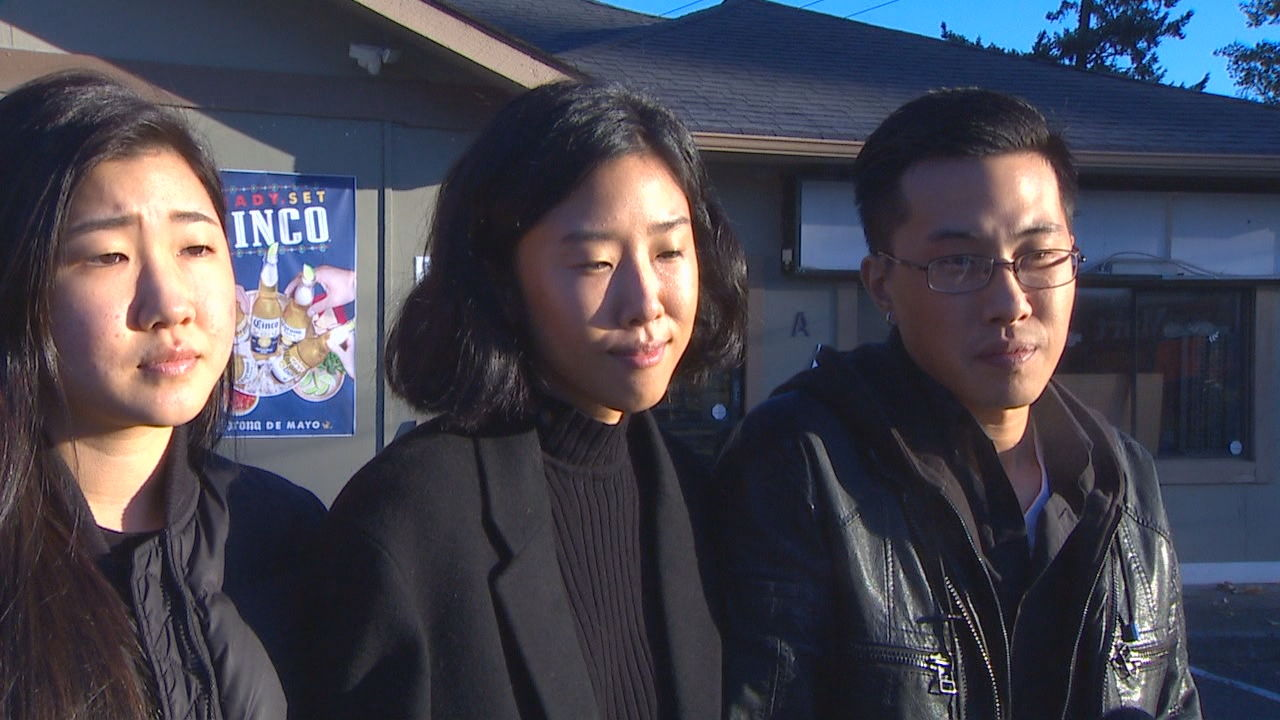 The children of In Choe, 59, who was killed on Oct. 1, 2019. From left: Hannah, Angela, and Elijah. (KOMO News)<p></p>