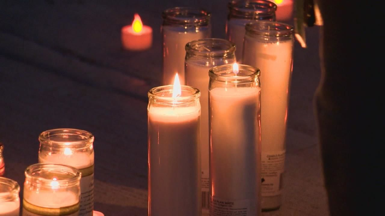 Family and members of the community held a vigil Thursday night after Lizzy Rutland was hit and killed while walking to a school bus stop Wednesday morning (WSYX/WTTE)<p></p>