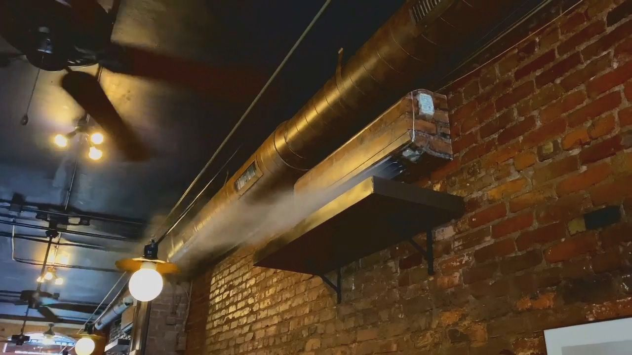 The owner of Bouchon,{ }a french comfort food style restaurant located in downtown Asheville, North Carolina, says they are investing in air purifiers. (Photo credit: WLOS Staff)