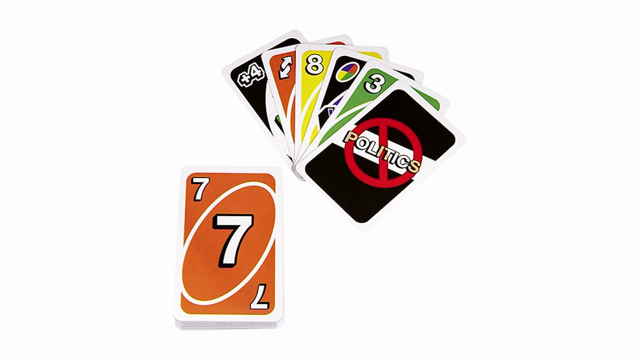 Mattel has introduced a nonpartisan version of its Uno card game. (Mattel/CNN)