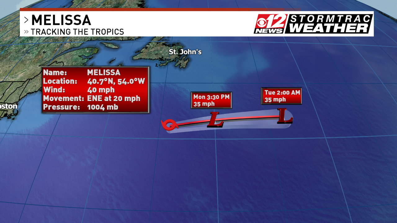 Melissa is expected to dissipate by Tuesday. (WPEC).
