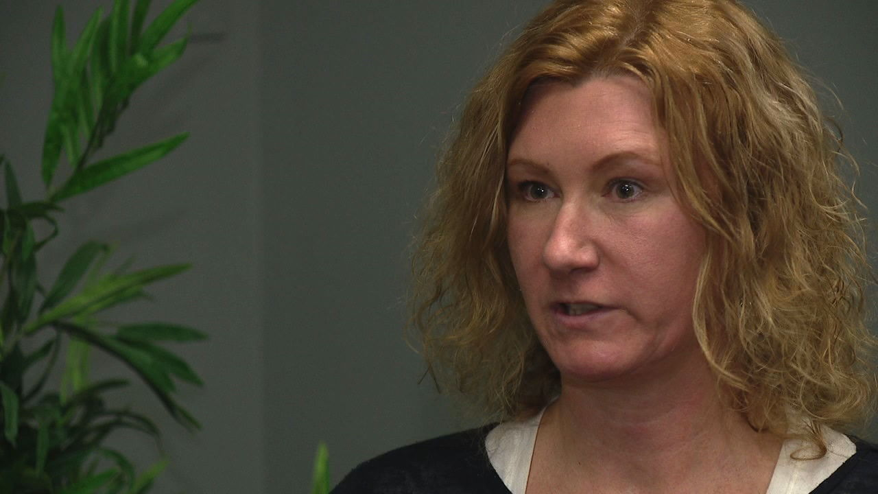 """It's actually very normal to have survivor's guilt when you've been in a traumatic situation,"" Christine Elliott, a licensed counselor at Vaya Health in Asheville, said. (Photo credit: WLOS staff)"