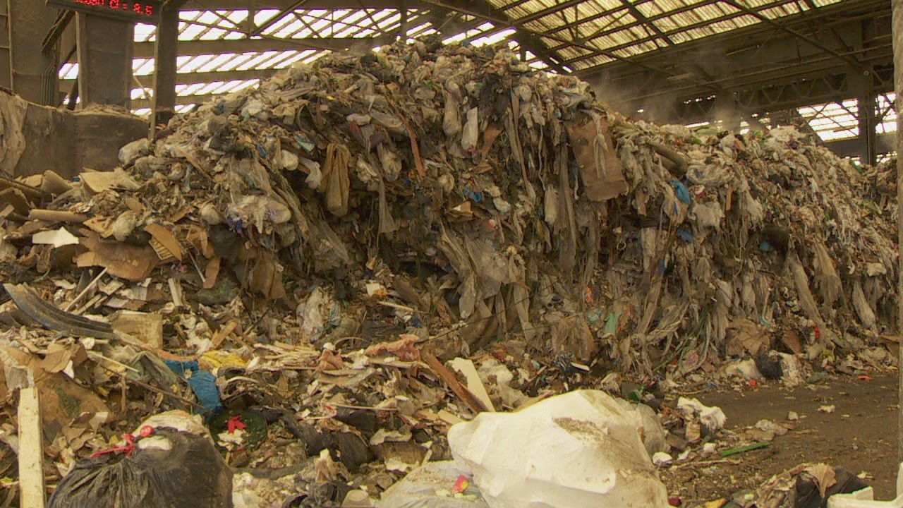You won't usually find this much of a backlog of garbage at the NW Portland transfer station. (KATU)<p></p><p></p>