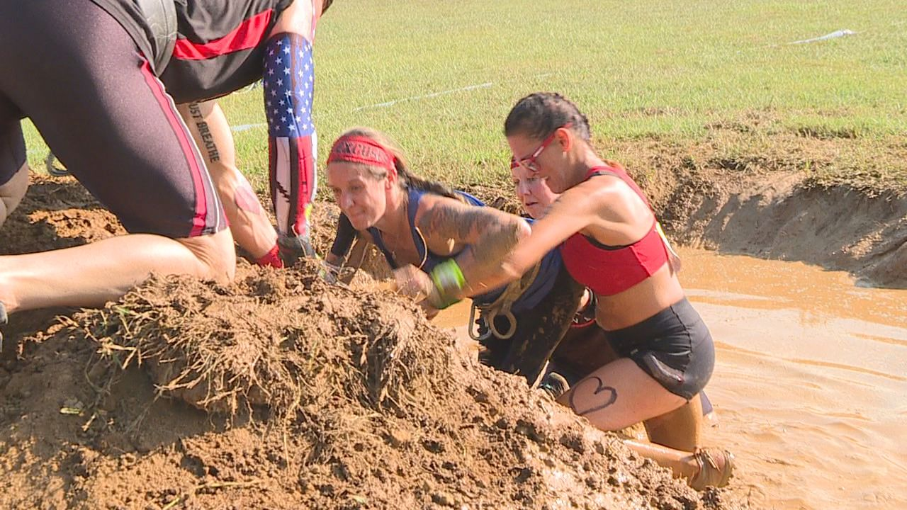 """This was part of my purpose,"" former Miss Wheelchair America competes in Mud Run. Photo: WTVC"