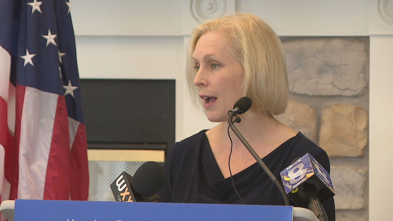Democratic U.S. Senator Kirsten Gillibrand has been reelected to another term in the U.S. Senate. (WHAM photo)