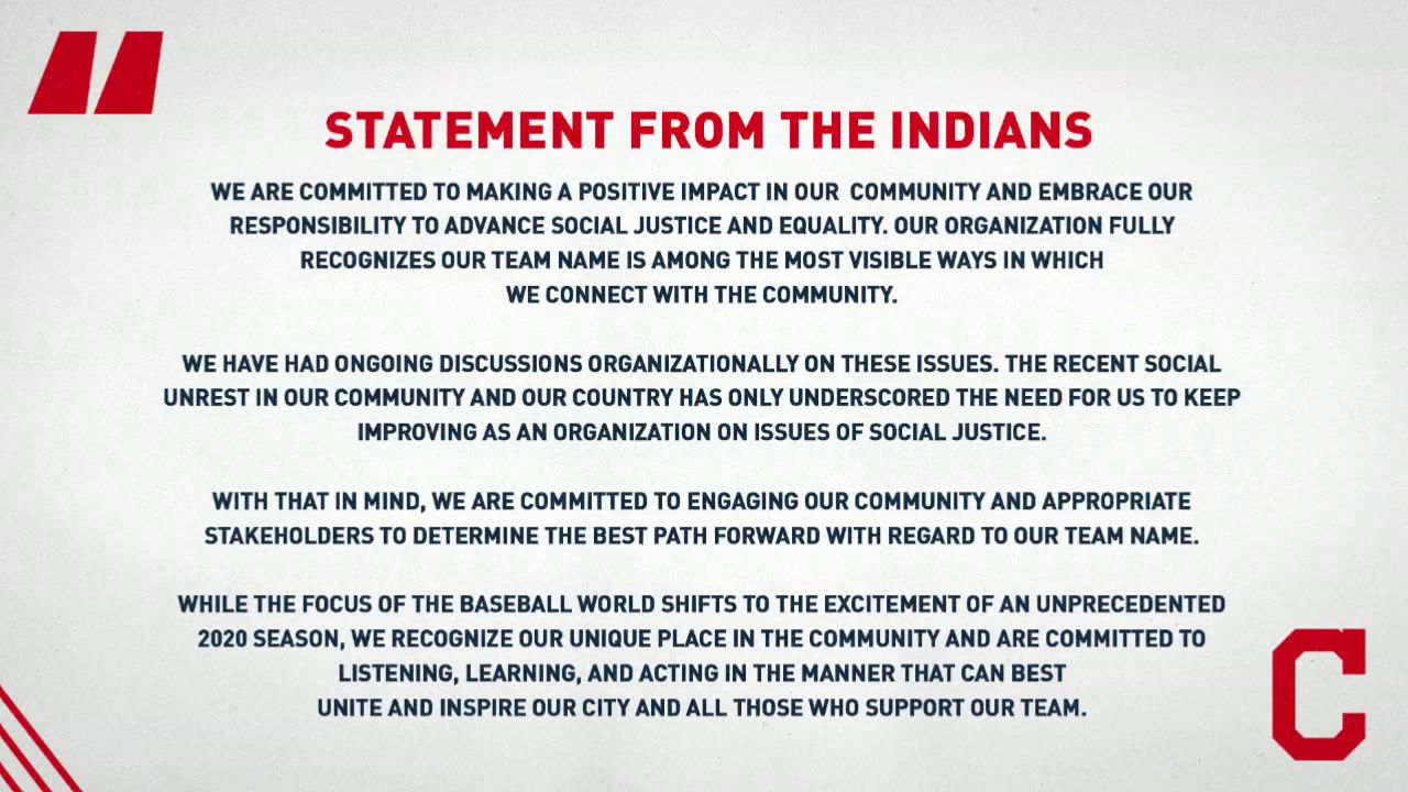 <p>Amid new pressure sparked by a national movement to correct racial wrongdoings, the Cleveland Indians said they will review their long-debated nickname. (WSYX/WTTE){&nbsp;}{&nbsp;}</p>Thumbnail