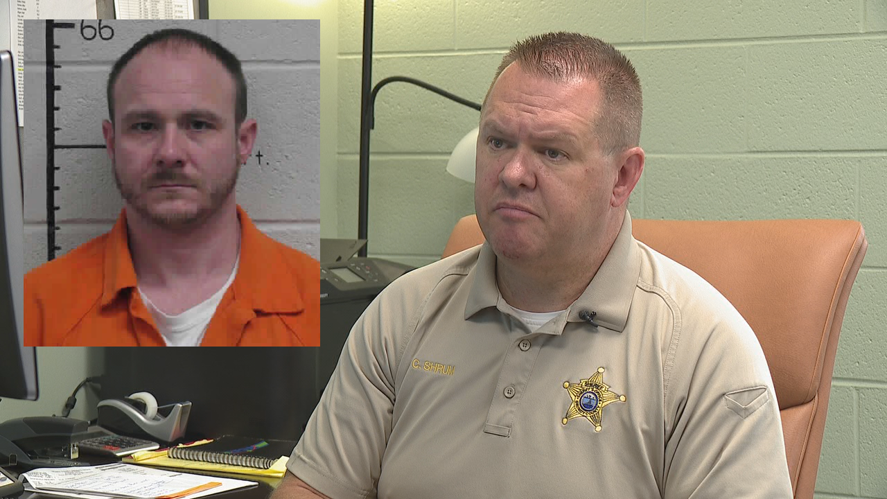Grundy County Sheriff Clint Shrum comments on Jacky Wayne Bean (Images: Hamilton Co. Sheriff's Office, WTVC)