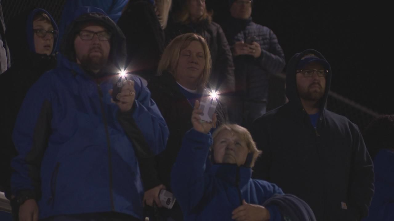 An emotional night at Gahanna Lincoln High School's football game Friday as the school remembered the lives of a football coach and player. (WSYX/WTTE)