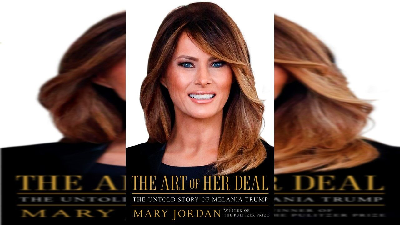 "This cover image released by Simon & Schuster shows ""The Art of Her Deal: The Untold Story of Melania Trump"" by Mary Jordan. Jordan's unauthorized biography of first lady Melania Trump comes out June 16. (Simon & Schuster via AP)"