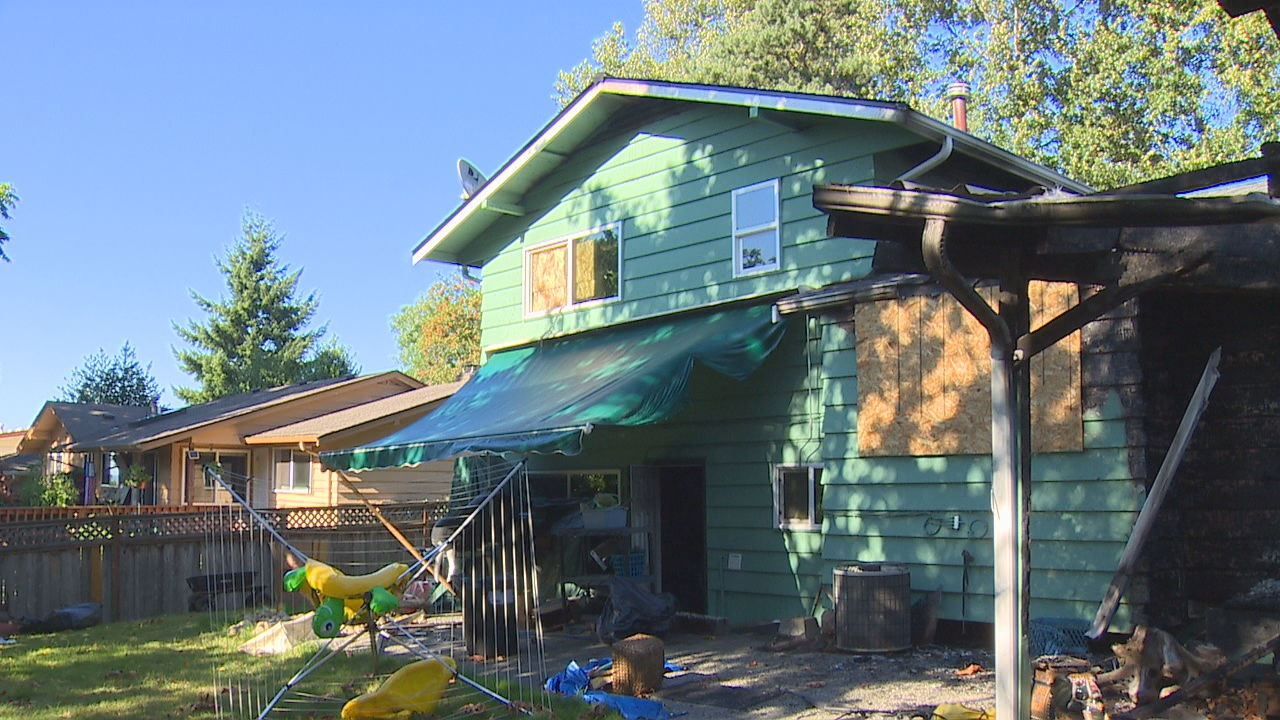 Aftermath of a 4th of July fire that killed a man and two dogs in Highline (KOMO Photo)