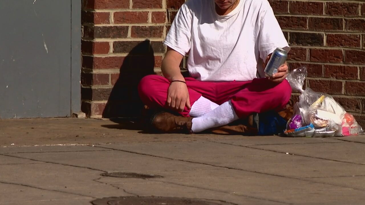 <p>Those who work directly with Asheville's homeless do not expect there to be a major increase in the homeless population this year, they explain why you might see more people sleeping outside. (Photo credit: WLOS Staff)</p>