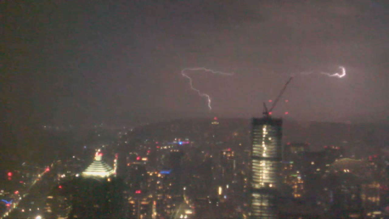 Lightning over Seattle (KOMO Photo)