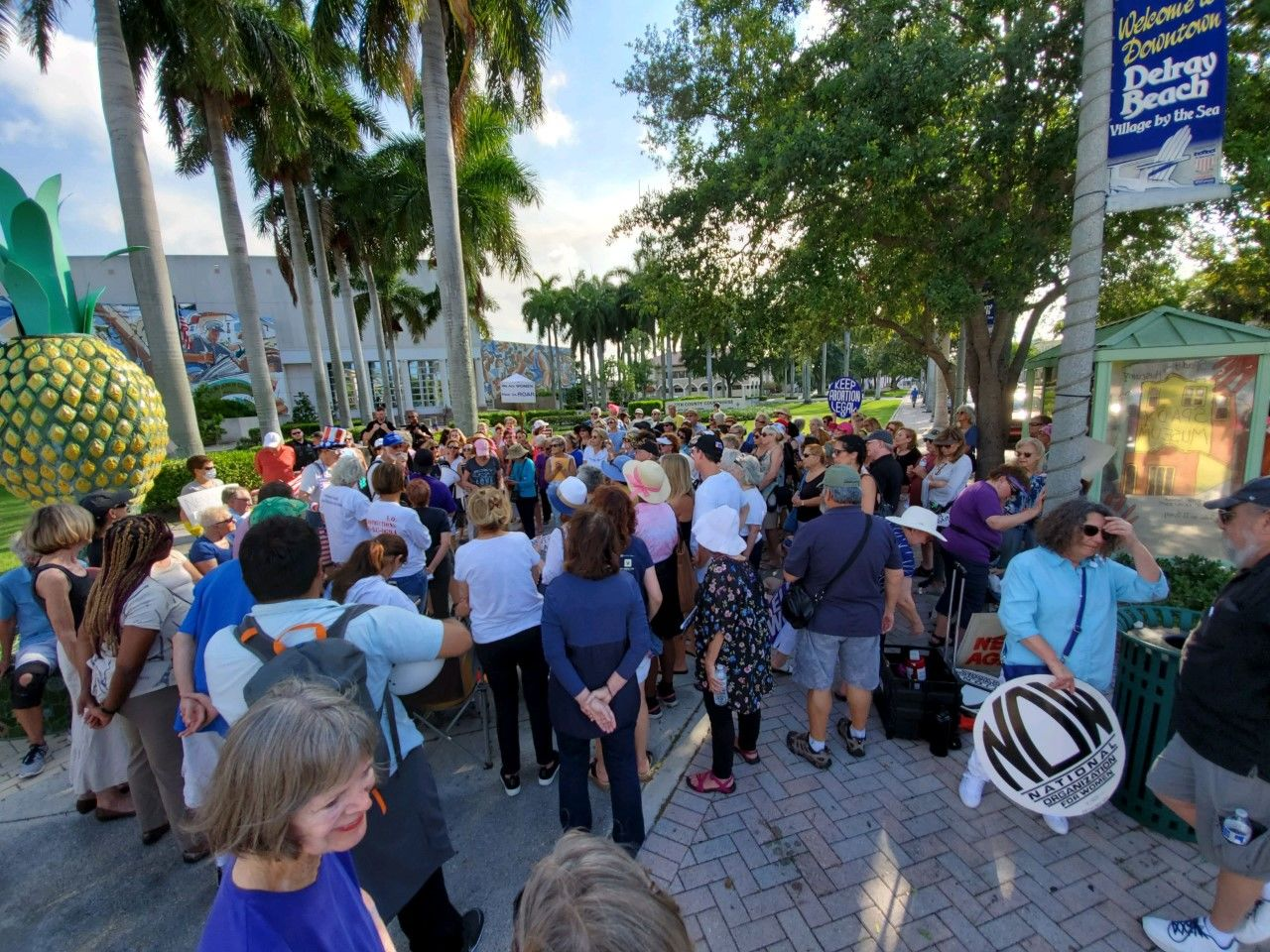 Abortion ban protest held in Delray Beach (WPEC)