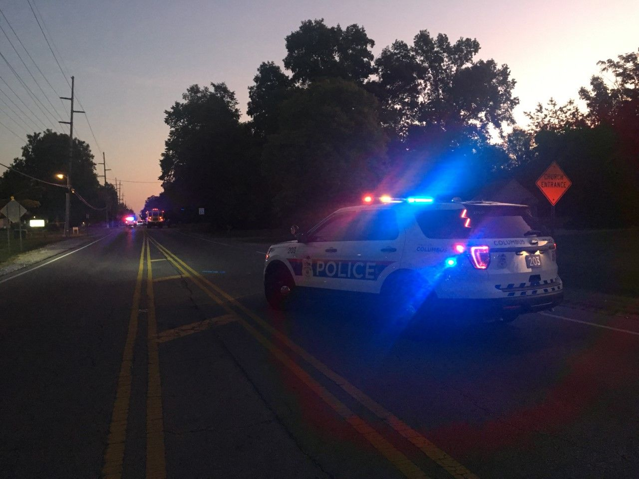 A child was killed by a vehicle in east Columbus Wednesday morning Sept. 18, 2019. (WSYX/WTTE)