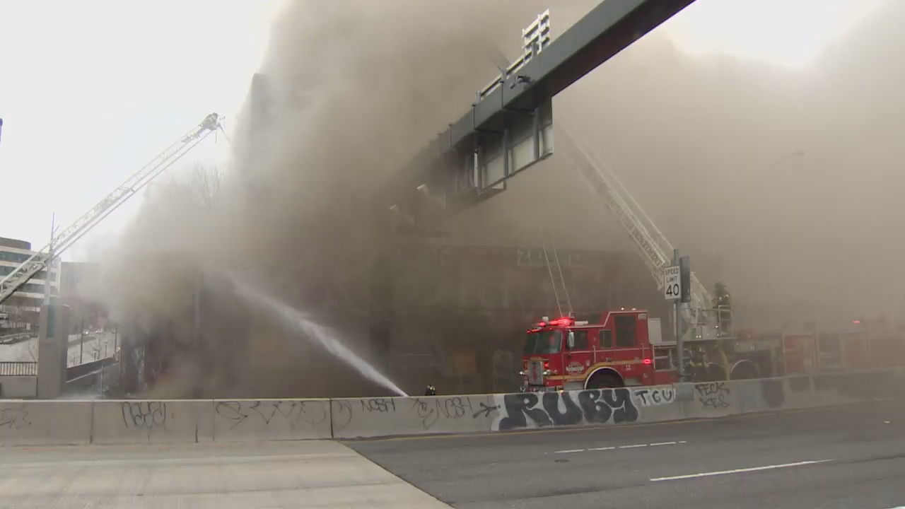 Fire burns abandoned building in Seattle (Seattle Fire Photo)