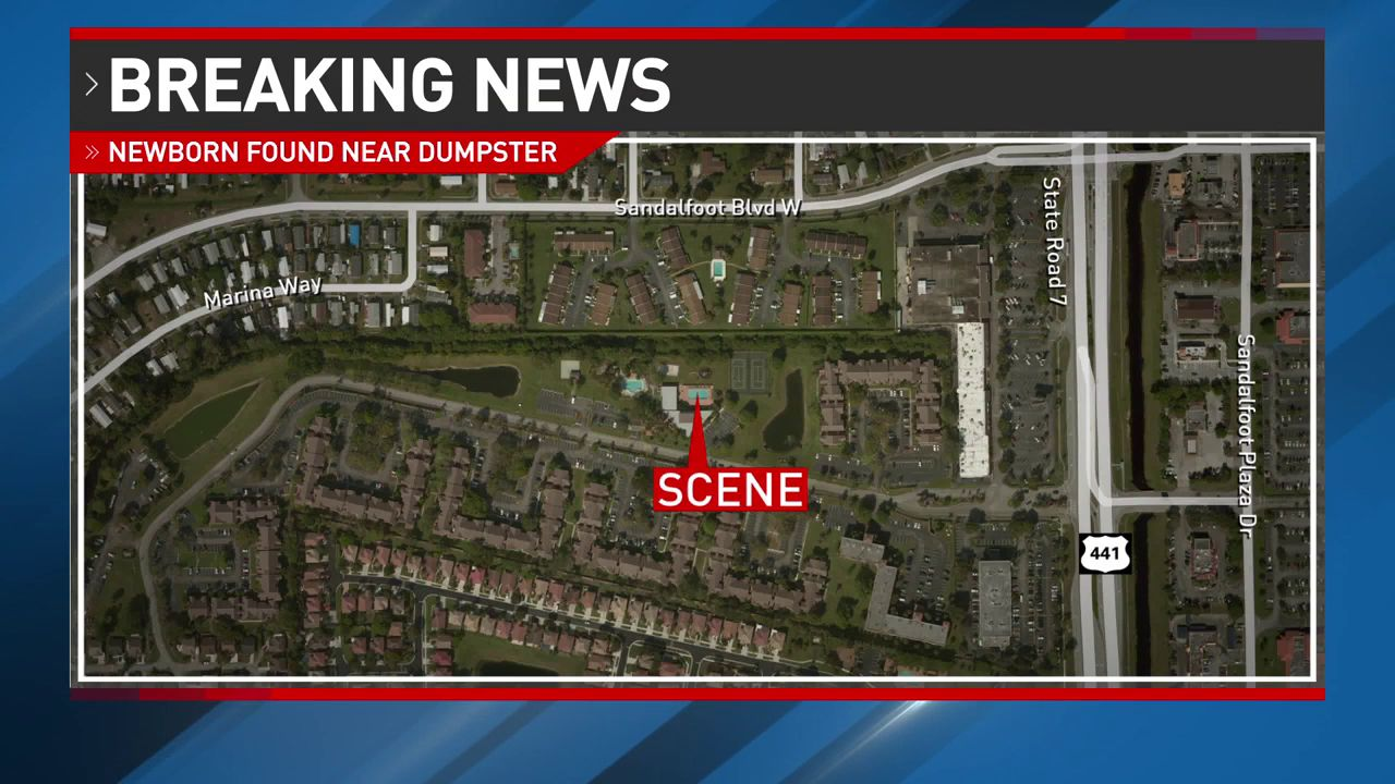 Baby girl found alive near dumpster in West Boca Raton. (WPEC)