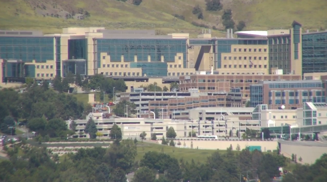 Emergency responders converged on the University of Utah Medical Center Friday after reports of a jet fuel leak. (Photo: KUTV)