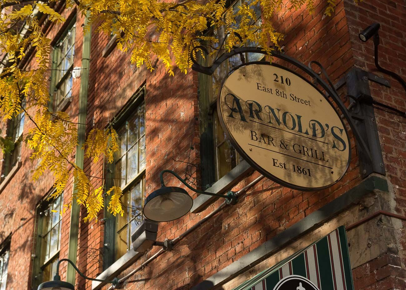 PLACE: Arnold's Bar & Grill / ADDRESS: 210 E 8th Street (Downtown) / Being the oldest continually operating bar in Cincinnati comes with its paranormal perks. Arnold's Bar dates back to 1861 and has its fair share of ghost sighting claims from patrons and employees alike. / Image: Phil Armstrong, Cincinnati Refined // Published: 10.17.20