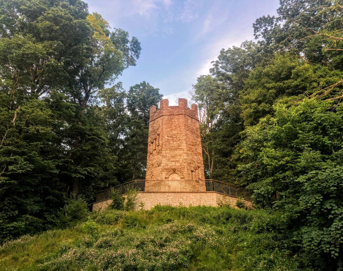PLACE: Frankenstein's Castle / ADDRESS: 2655 S Patterson Boulevard (Kettering) / The Patterson Tower, also called Frankenstein's Castle, sits in Hills and Dales MetroPark about an hour north in Kettering, OH. The structure features a turret-shaped stone lookout and a spooky past. / Image: Di Minardi // Published: 10.17.20