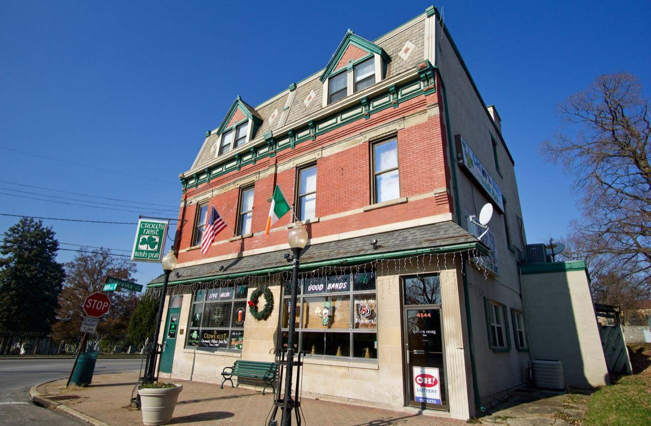 PLACE: Crow's Nest Bar / ADDRESS: 4544 Eighth Street (West Price Hill) / Crow's Nest is an Irish-themed, neighborhood bar with a few ghosts who sometimes like to hang around there, too. / Image: Brian Planalp // Published: 10.17.20