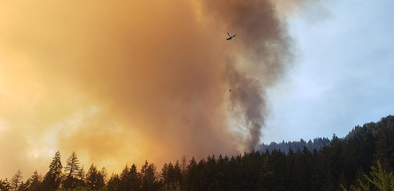 A wildfire burns east of Cottage Grove, May 10, 2019. (Image via Facebook visitor)