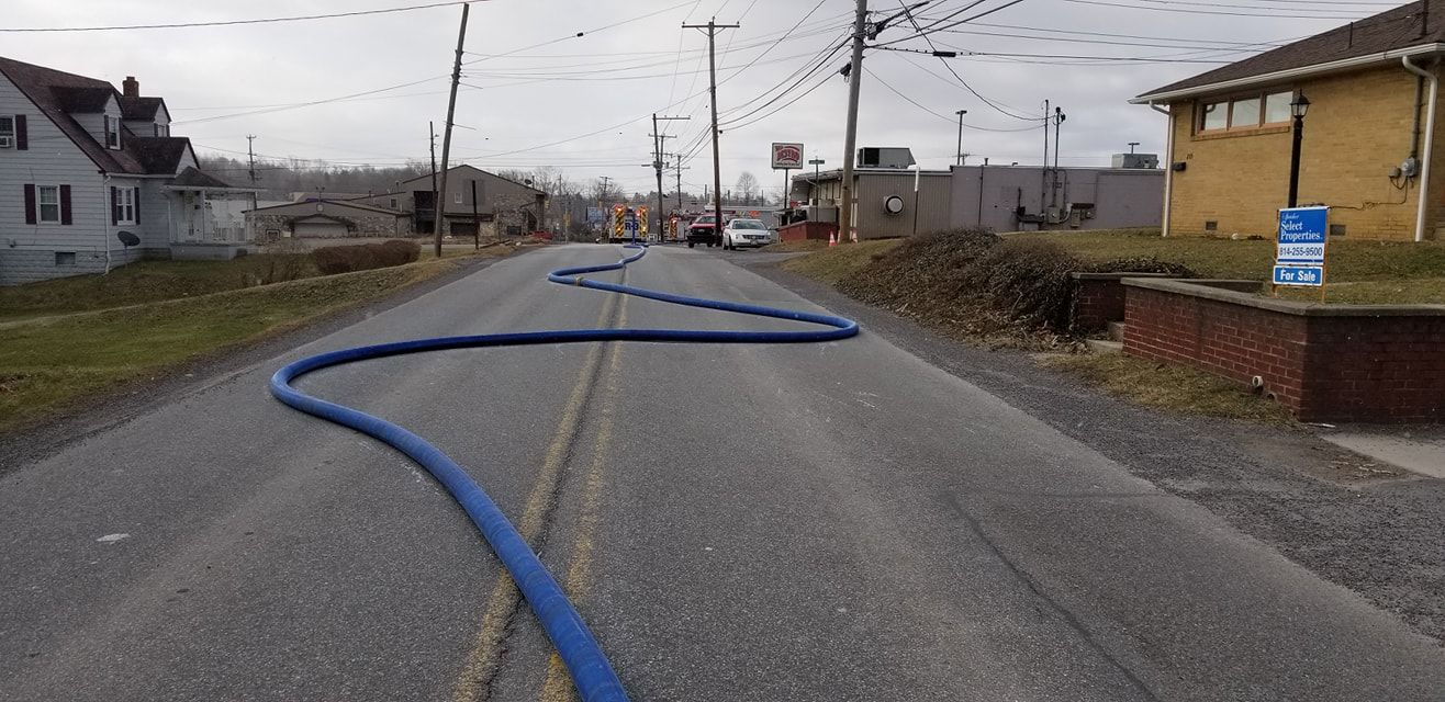 Natural gas leak shuts down Johnstown road. ( Richland Volunteer Fire Department)