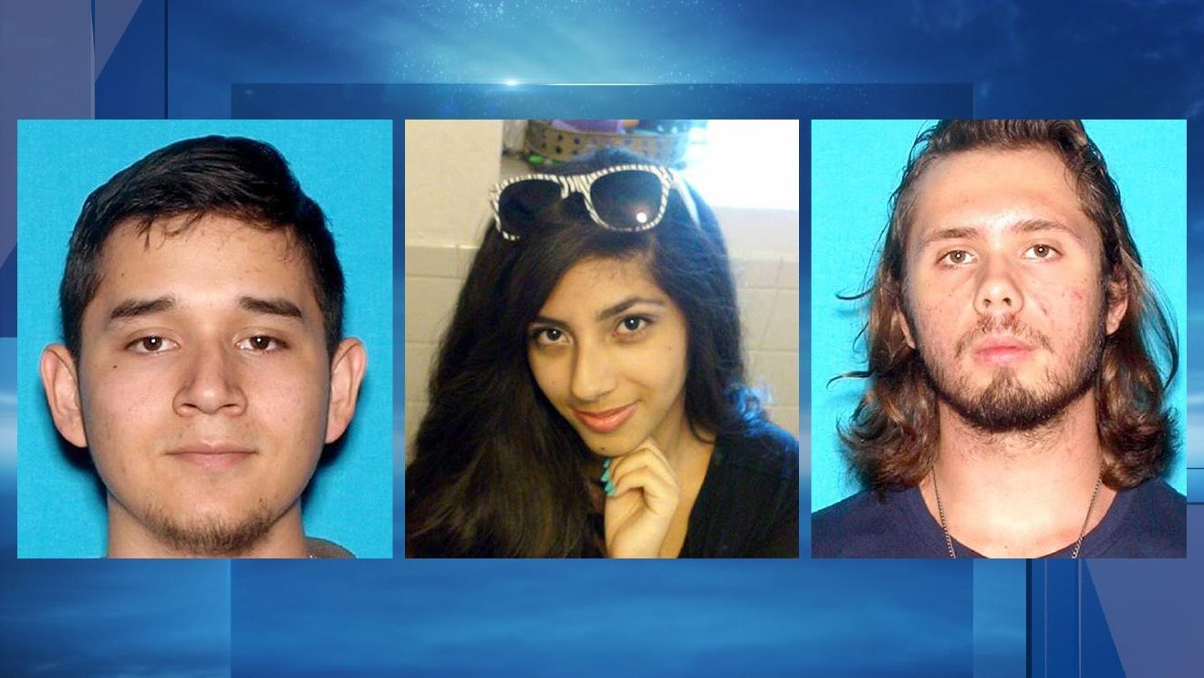 From left are Daniel Gamboa, Samantha Ornelas and Kasey Vance. (Fontana Police Department via AP)