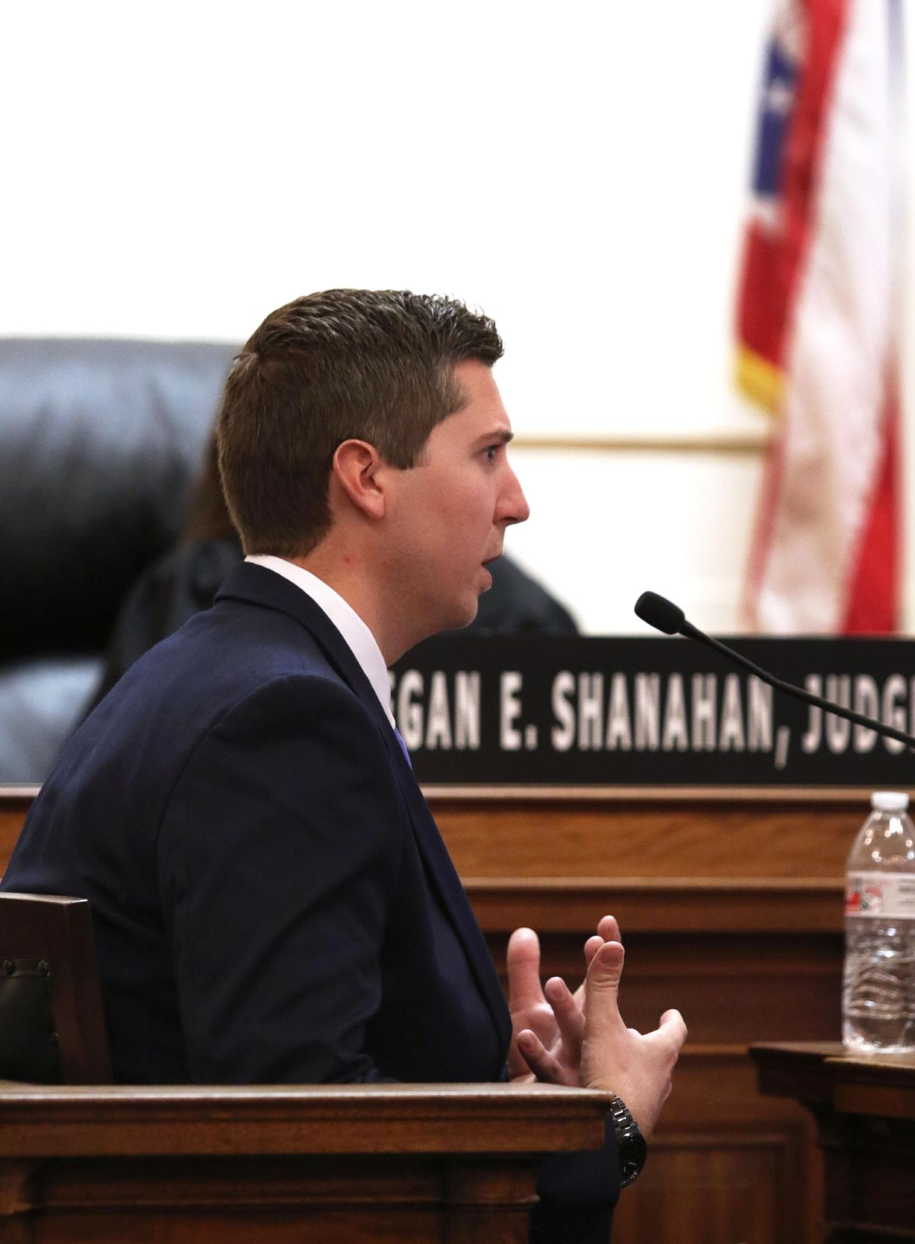 Tensing, the former University of Cincinnati police officer, is charged with murdering Sam DuBose during a routine traffic stop on July 19, 2015. Tensing's lawyer, Stew Mathews, has said Tensing fired a single shot because he feared for his life. (POOL, The Enquirer/Cara Owsley)