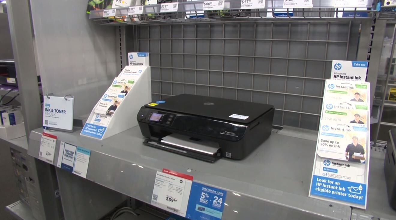 Another option is switching to a black and white laser printer. They use toner instead of ink to produce speedy, high-quality text, and they're usually more cost-efficient than inkjets.{ } (Photo Credit: Consumer Reports)
