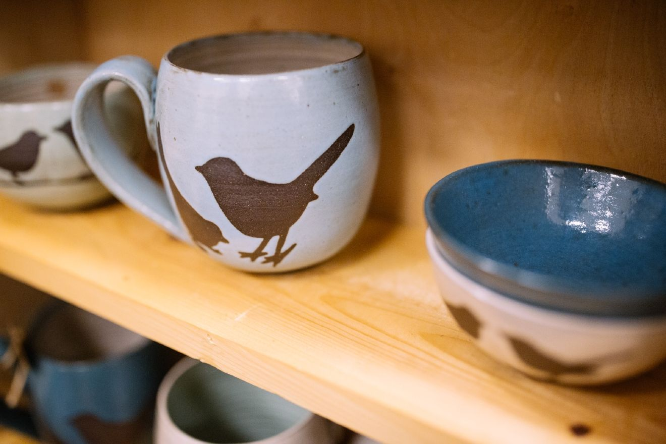 At Foxtail Pottery, every piece is thrown on the wheel by, Mandy Shoger, in her Seattle pottery studio. All of their pottery is made with commercially certified non-toxic and lead-free clay and glaze.  (Image: Joshua Lewis / Seattle Refined)