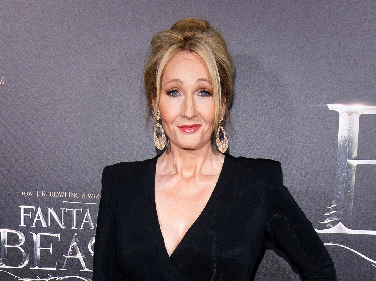 "FILE - In this Nov. 10, 2016 file photo, J. K. Rowling attends the world premiere of ""Fantastic Beasts and Where To Find Them"" in New York. (Photo by Charles Sykes/Invision/AP, File)"