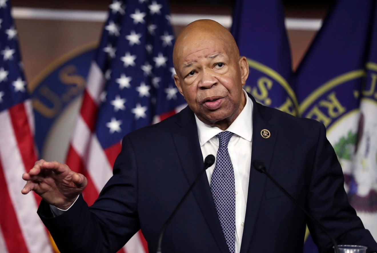 FILE - In this Jan. 12, 2017, file photo, Rep. Elijah Cummings, D-Md. speaks during a news conference on Capitol Hill in Washington. (AP Photo/Manuel Balce Ceneta, File)