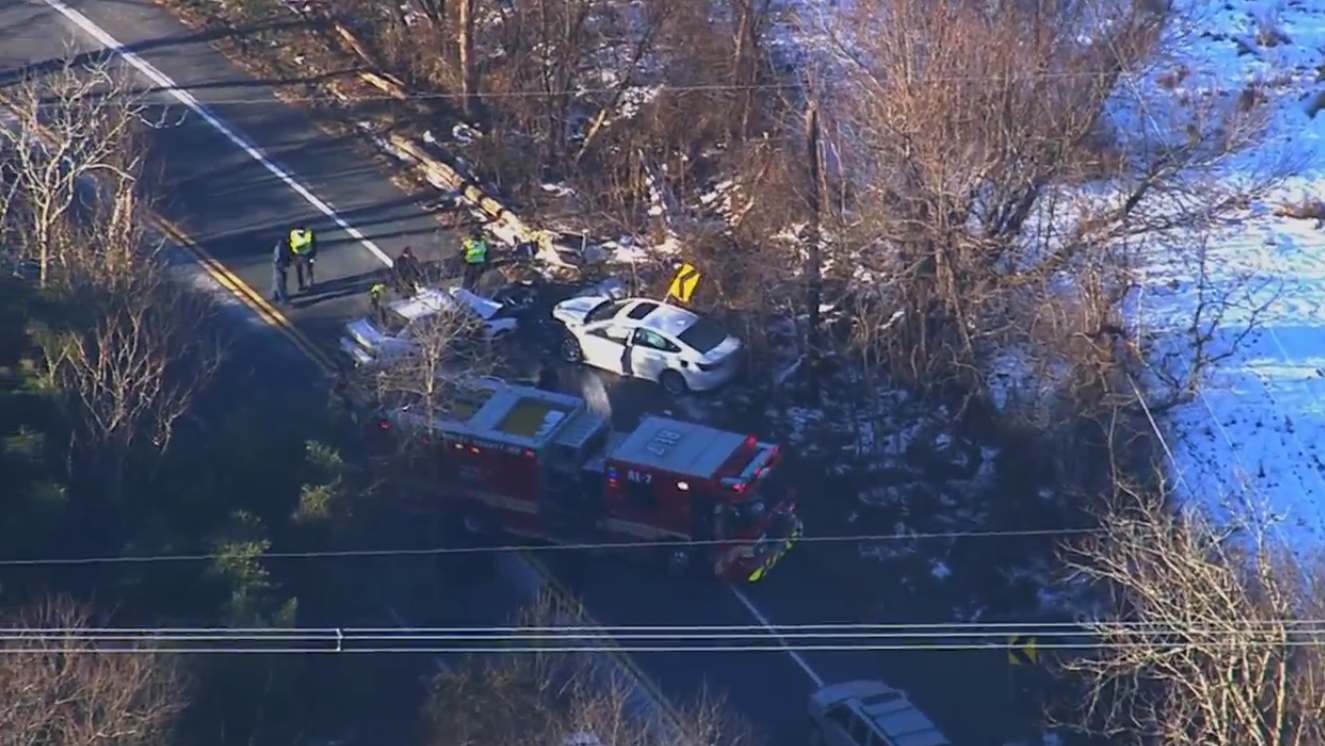 Serious car collision under investigation in Damascus, MD. Tuesday, Jan. 22, 2019 (SkyTrak7){&nbsp;}<p></p>
