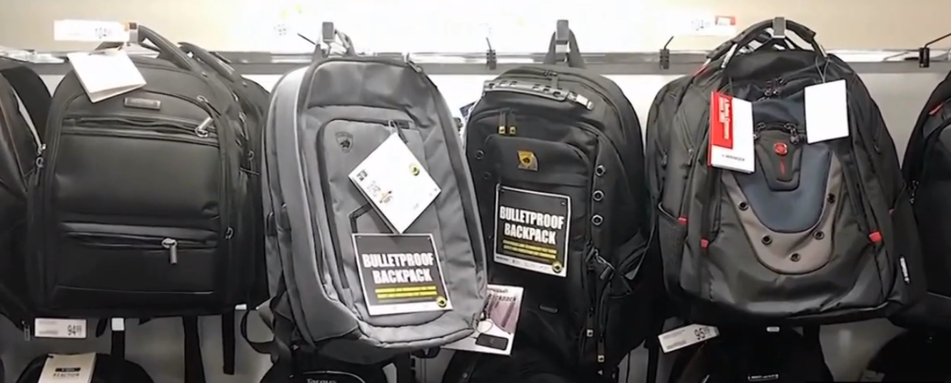 Mark Burton says he felt, like most people, hopeless when he would watch breaking news of another school shooting, so he decided to do something about it. Armormax has created a bullet-proof plate, which is inserted into a child's backpack. (Photo: KUTV)
