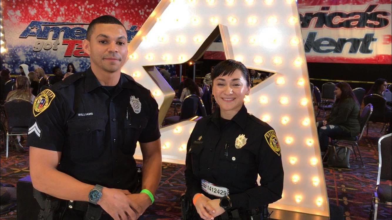 <p>Deputy Erin Contero was among the thousands that came out toshowcase their talents. (SBG Photo)</p>
