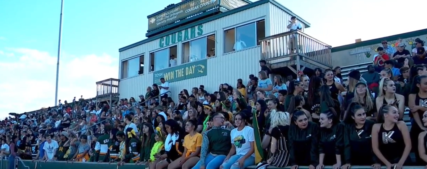 The Kearns High School football team dedicated its first game of the season to a former player who was killed last month. (Photo: KUTV)