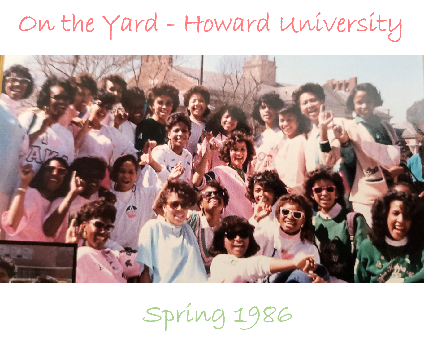 In 1986, Kamala Harris and 37 other women were initiated into Alpha Kappa Alpha at Howard University.{ } ABC7 spoke to her line sisters about Harris's history-making moment on Wednesday.{ }Courtesy: Alpha Kappa Alpha{ }