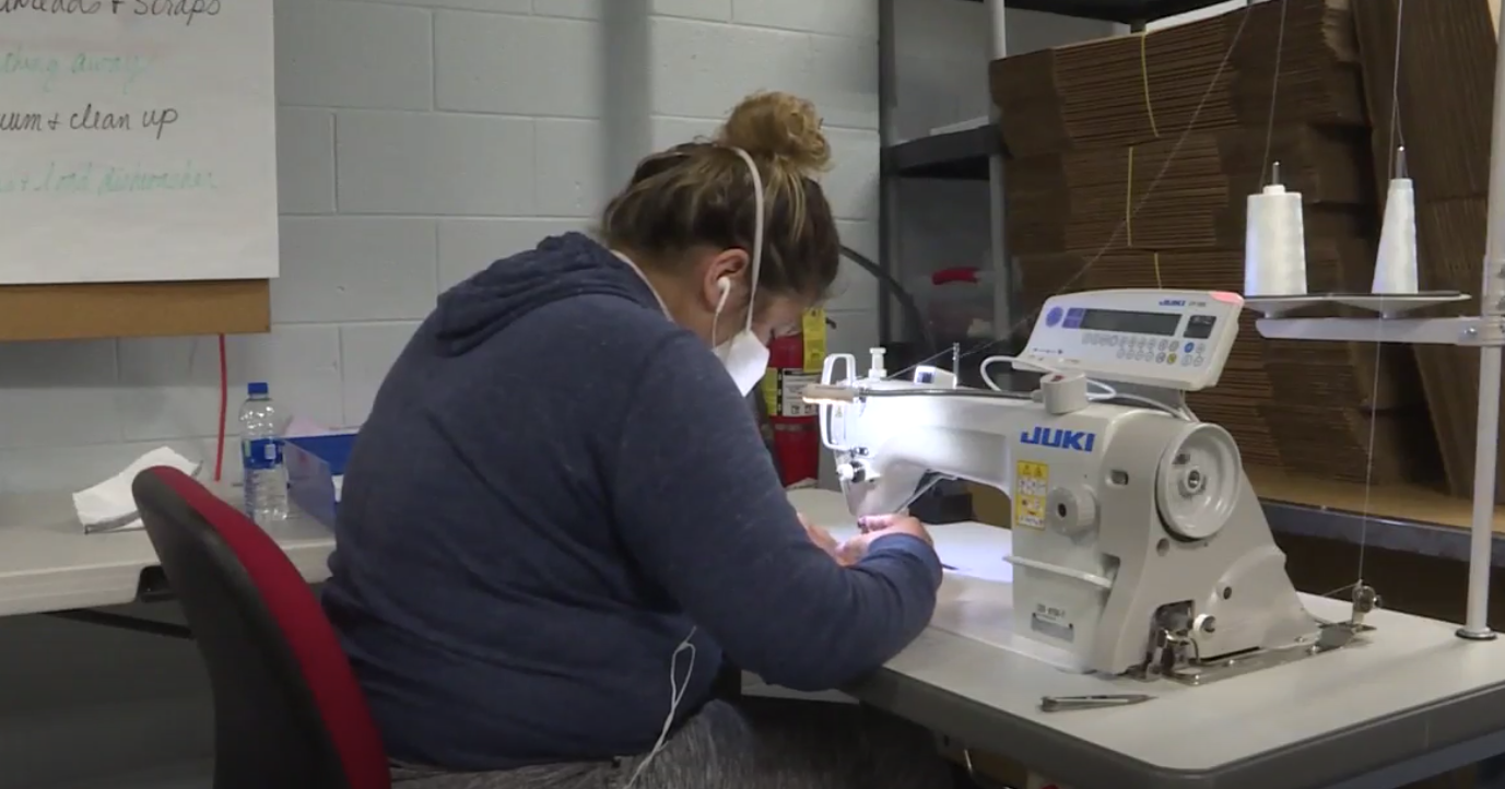 In the past two months, Sew Loved has delivered 60,000 masks to first responders, doctors and hospitals in Elkhart and St. Joseph County. // WSBT 22 photo