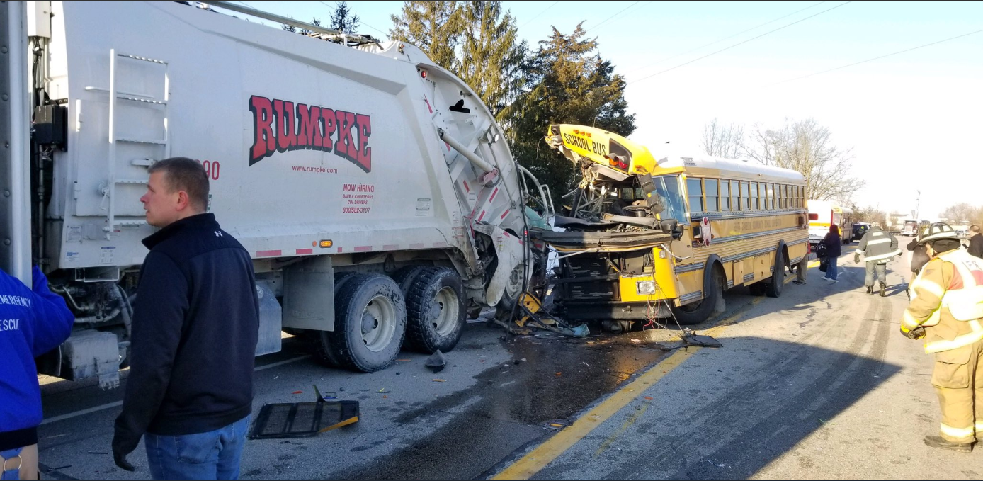 Dearborn school bus crash (Photo: ISP)