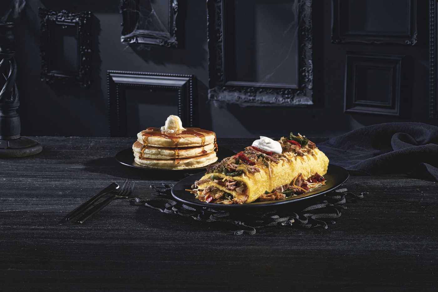 IHOP introduces dreadfully delicious menu items inspired by 'The Addams Family' // Photo courtesy of press release, linked to below