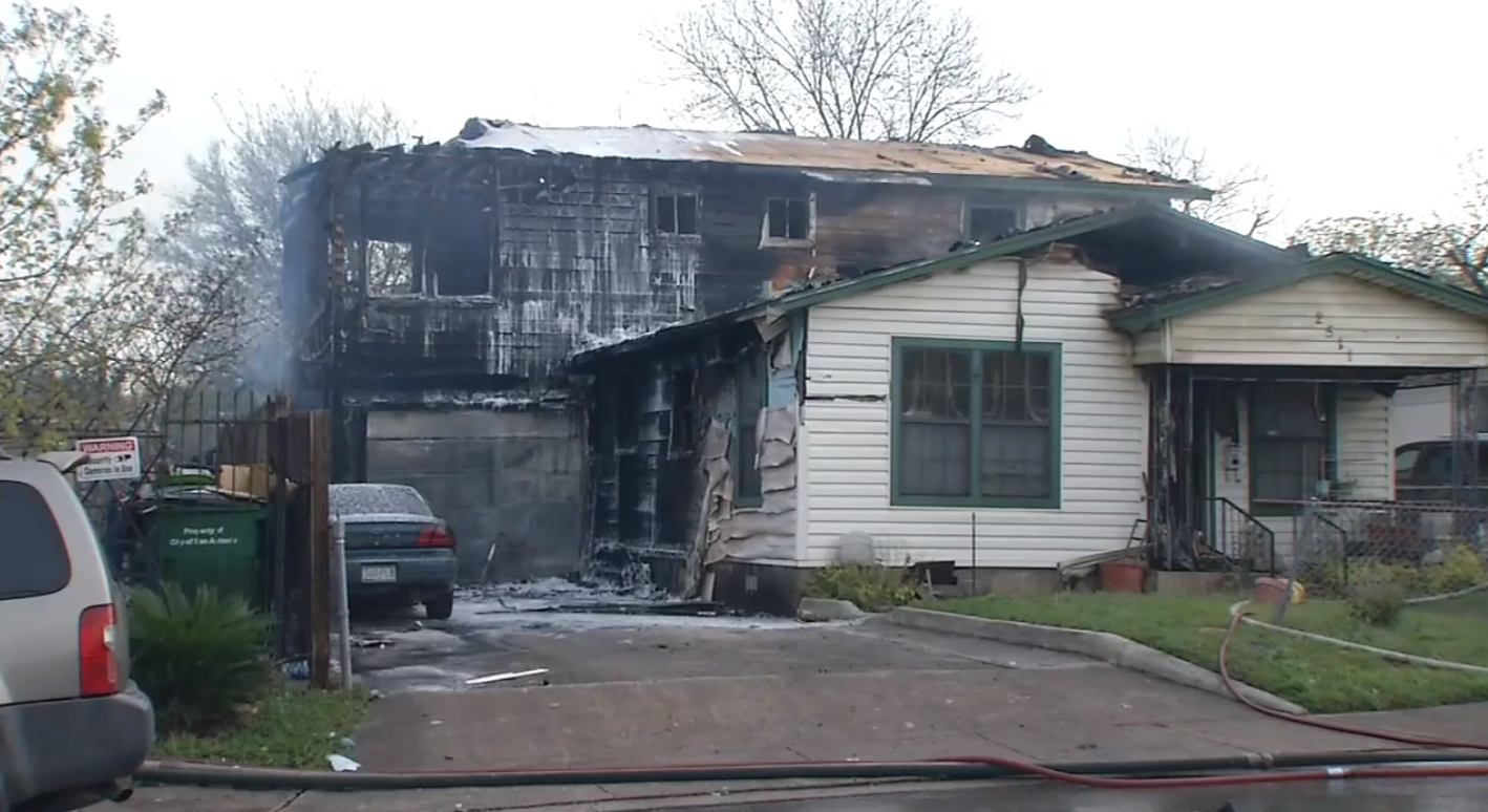 Guadiano home is a complete loss after fire. ((SBG San Antonio))