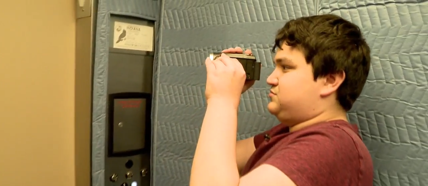 Young man with autism shares his passion for elevators through YouTube. // WSBT 22