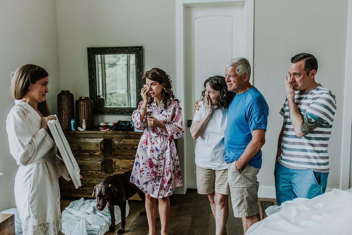 A Texas bride surprised her family on June 1 with a picture of her wearing her wedding dress and late her grandmother. (Misty McLendon Photography)