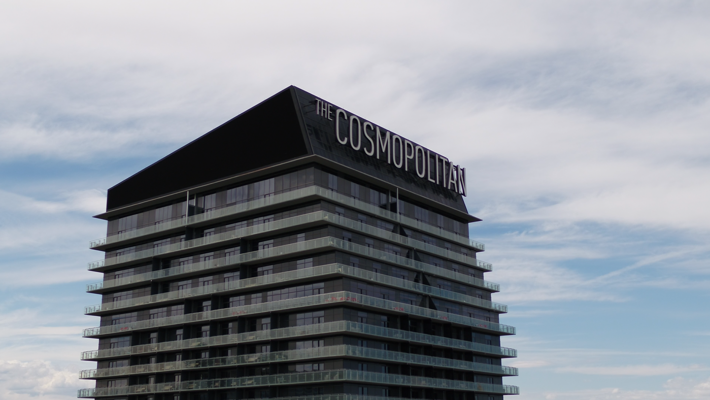 The Cosmopolitan on the Las Vegas Strip, pictured on April 17, 2020. (KSNV)
