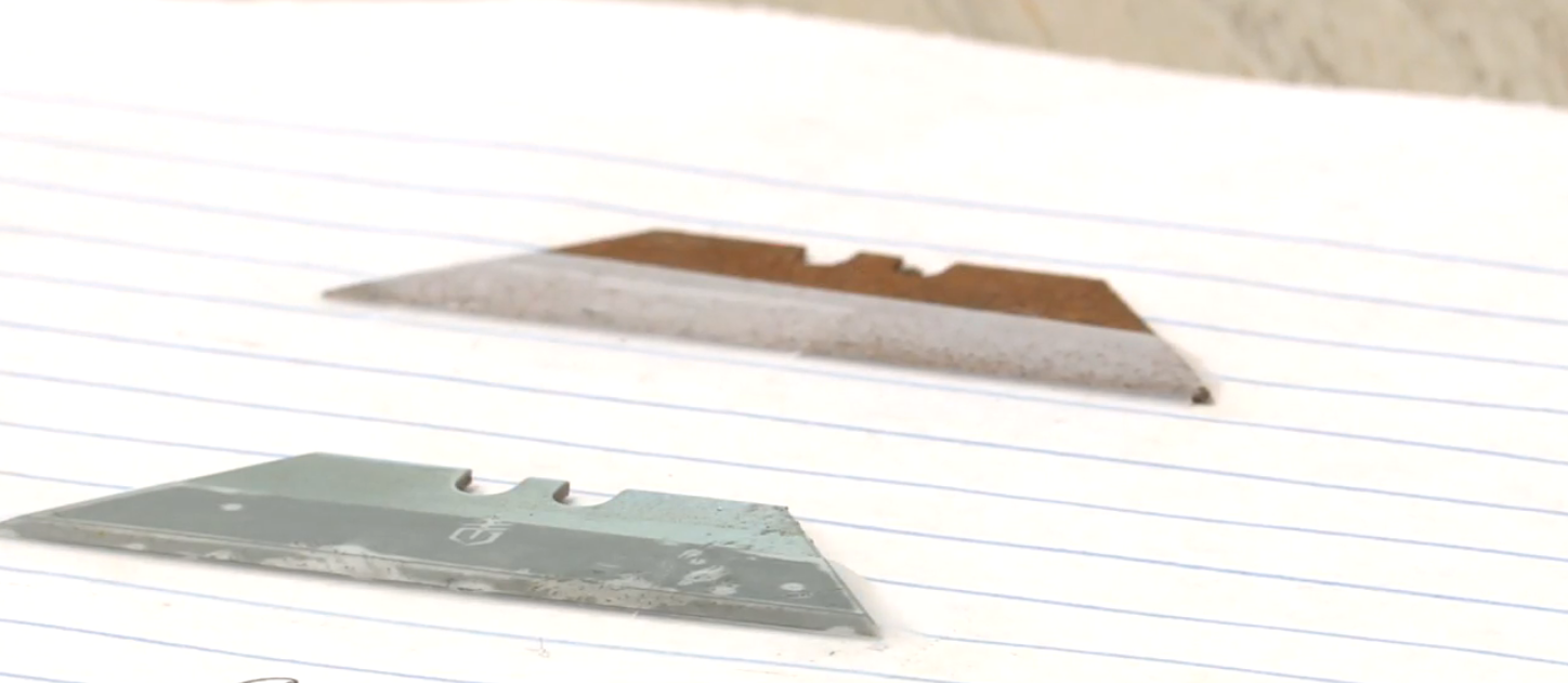 Coloma Township police warning public after razor blades found hidden in gas pump handle. // WSBT 22 Photo