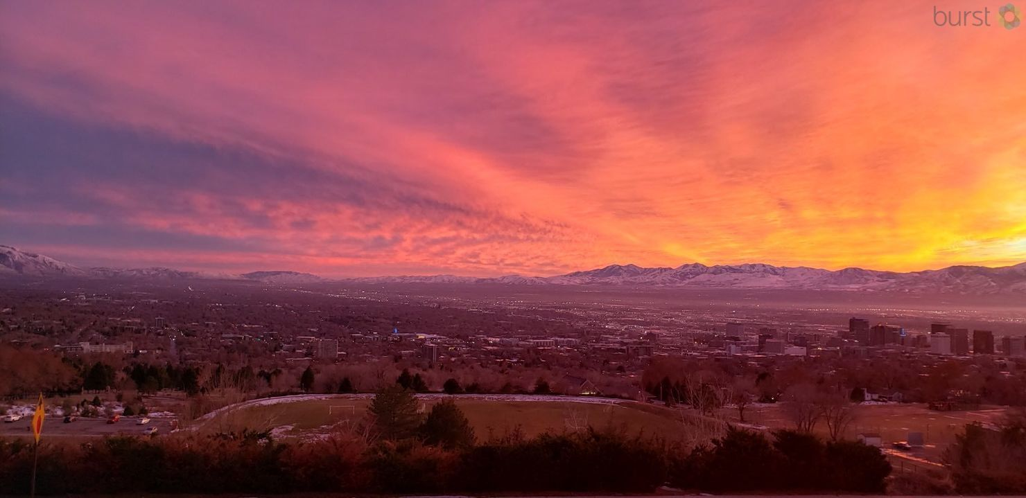 Salt Lake Valley at Sunset for World Photography Day (Photo: Adam Forgie / KUTV)